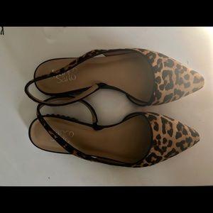 Leopard print Franco Sarto Savanna slingback flats